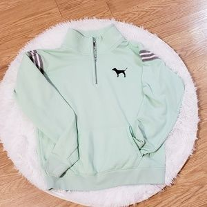 PINK Victoria's Secret Tops - PINK seafoam  3/4 zip pullover    A22